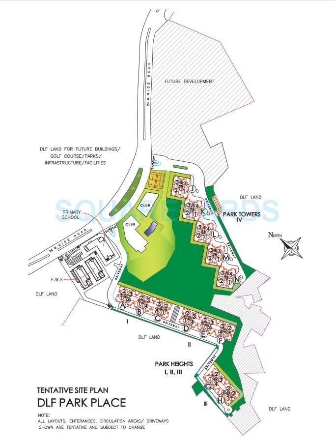 dlf park place master plan image1