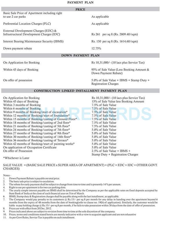 dlf regal gardens payment plan image1