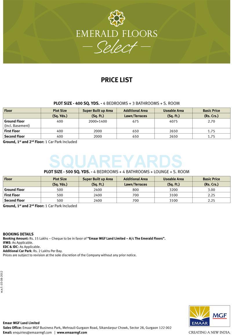 emaar mgf emerald floors select payment plan image2