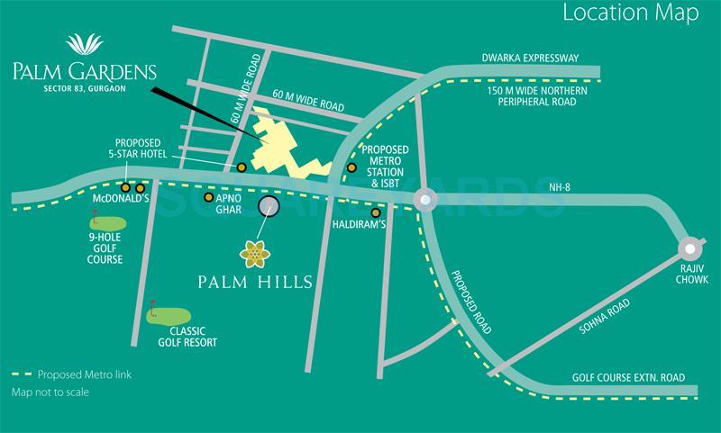 emaar mgf palm gardens location image1