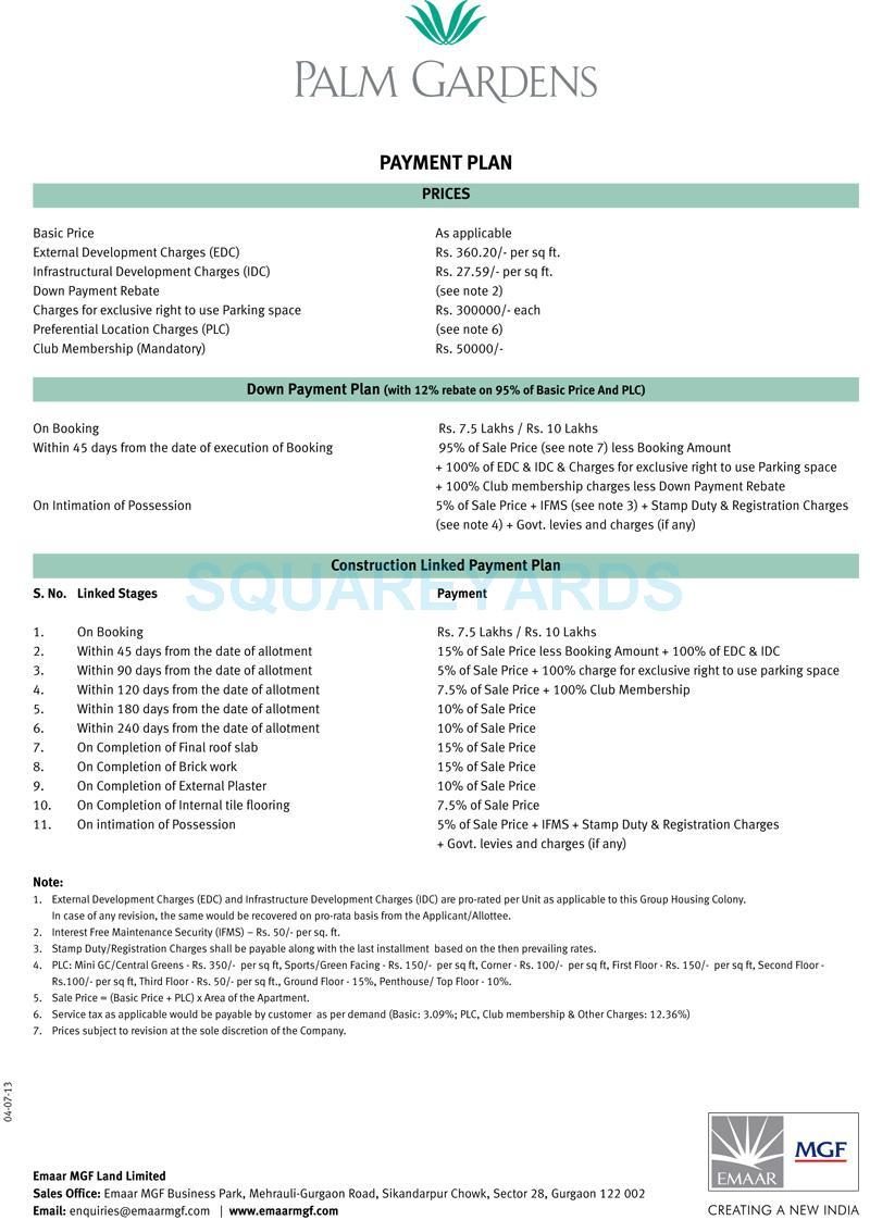 emaar mgf palm gardens payment plan image1