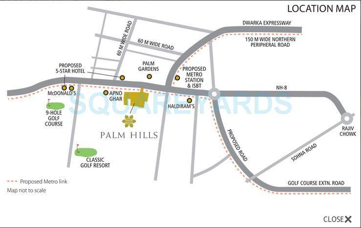 emaar mgf palm hills location image1