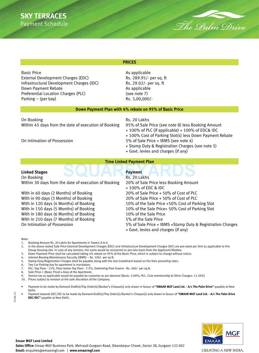 emaar mgf sky terraces payment plan image1