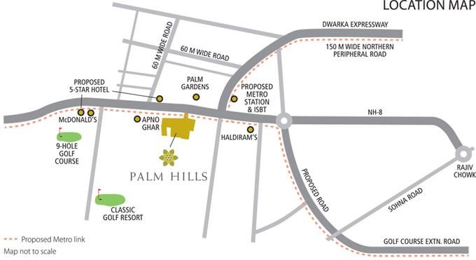 emaar palm hills location image7