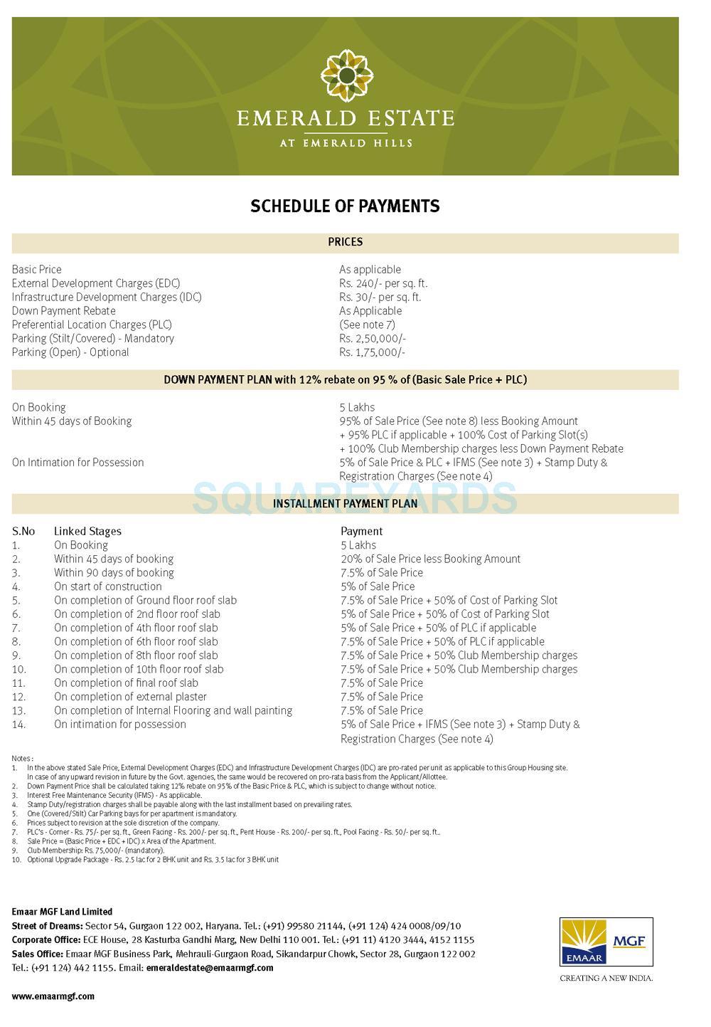 emmar mgf emerald estate payment plan image1