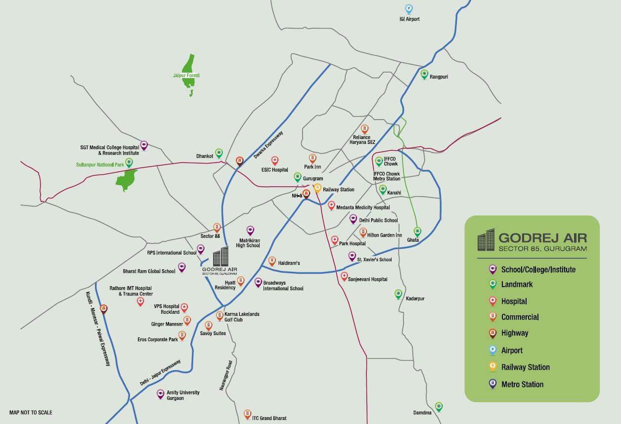 godrej air sector 85 location image1