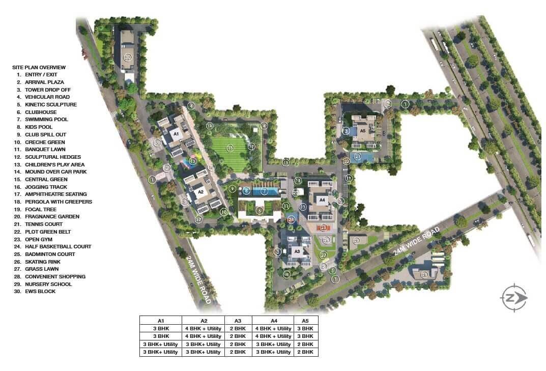 godrej air sector 85 master plan image1