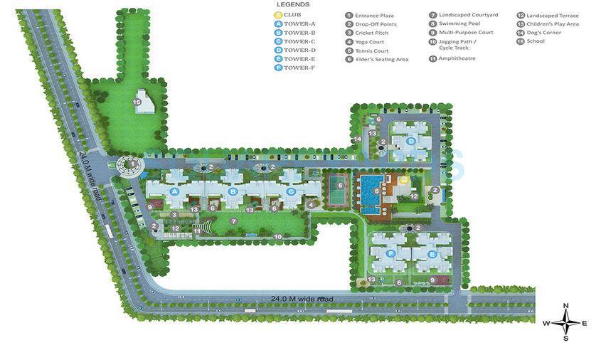 godrej aria master plan image1