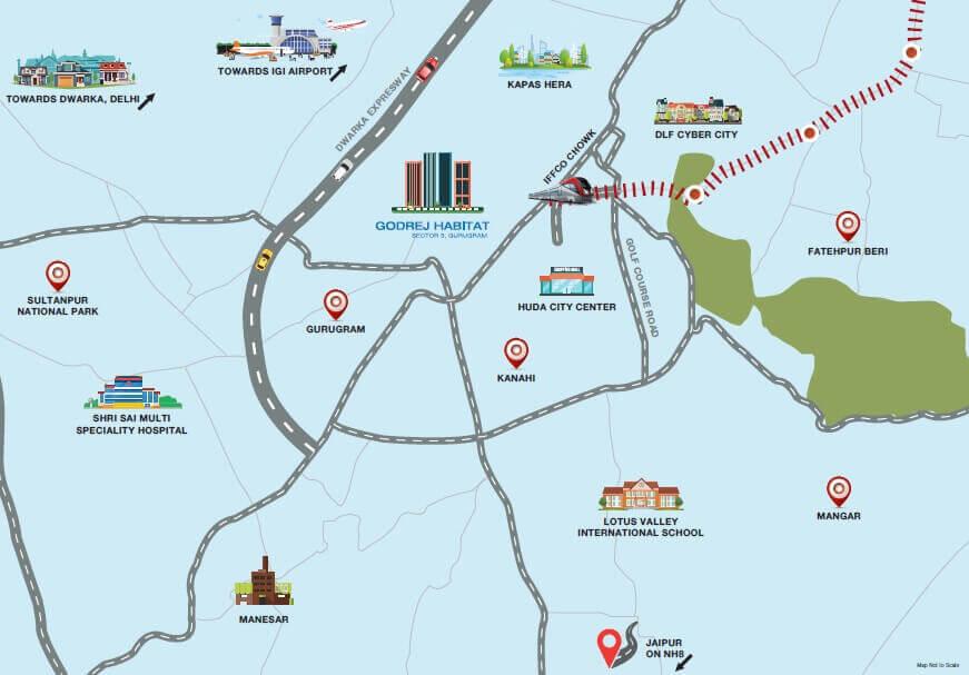 godrej habitat location image1