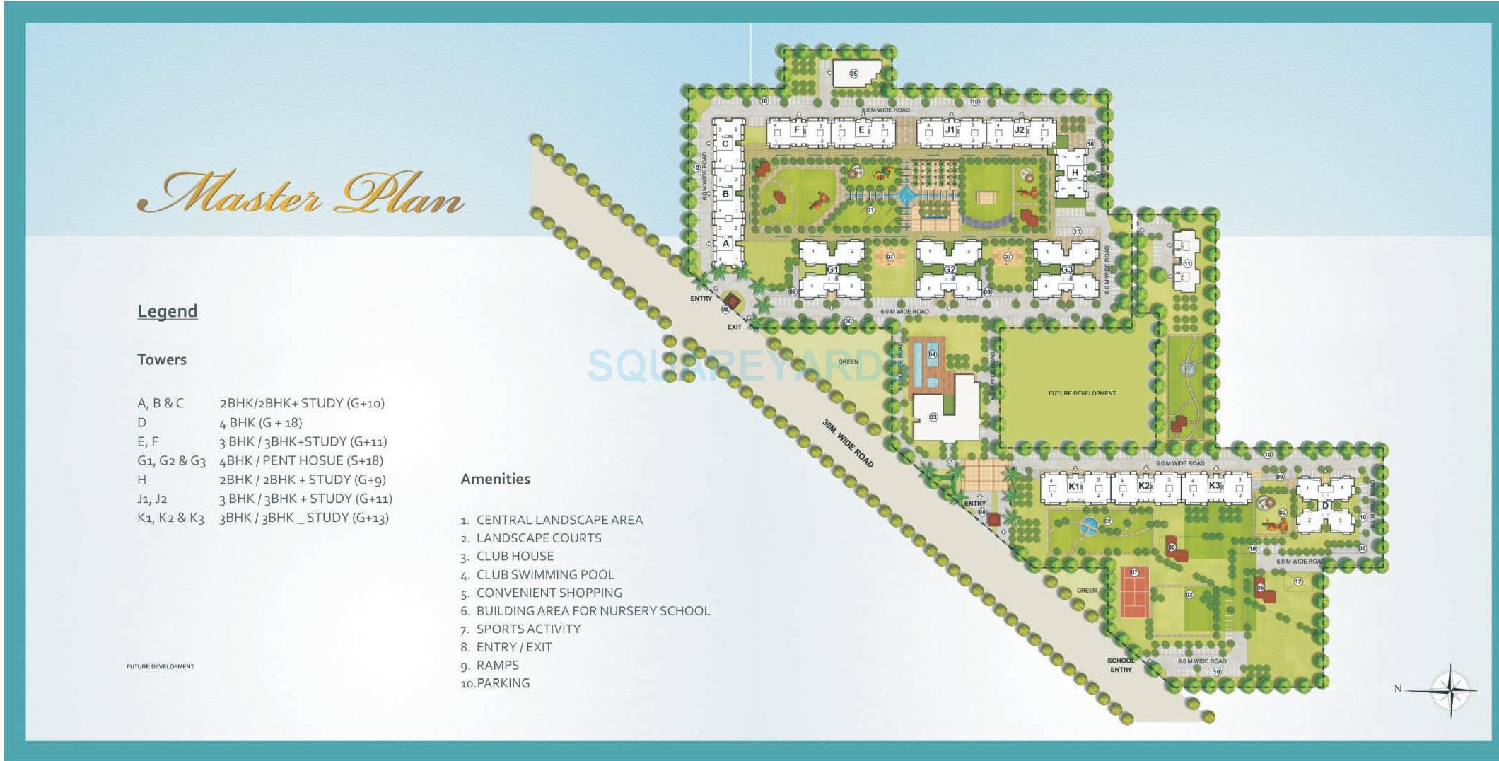 indiabulls centrum park master plan image1