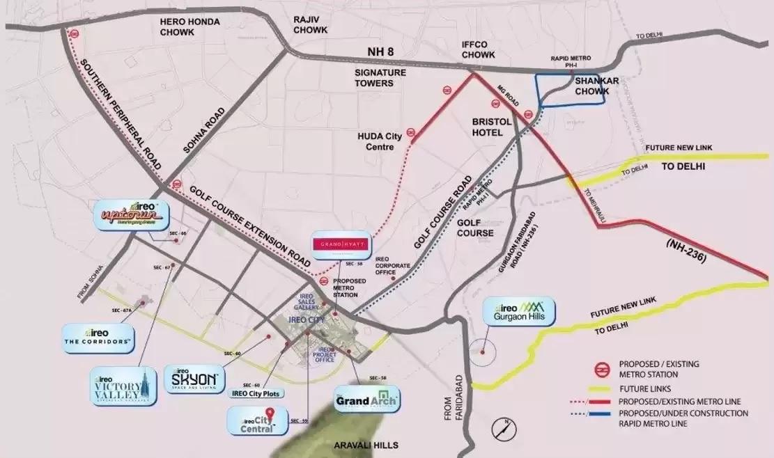 ireo city plots project location image1