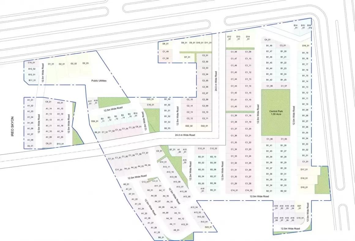 ireo city plots project master plan image1