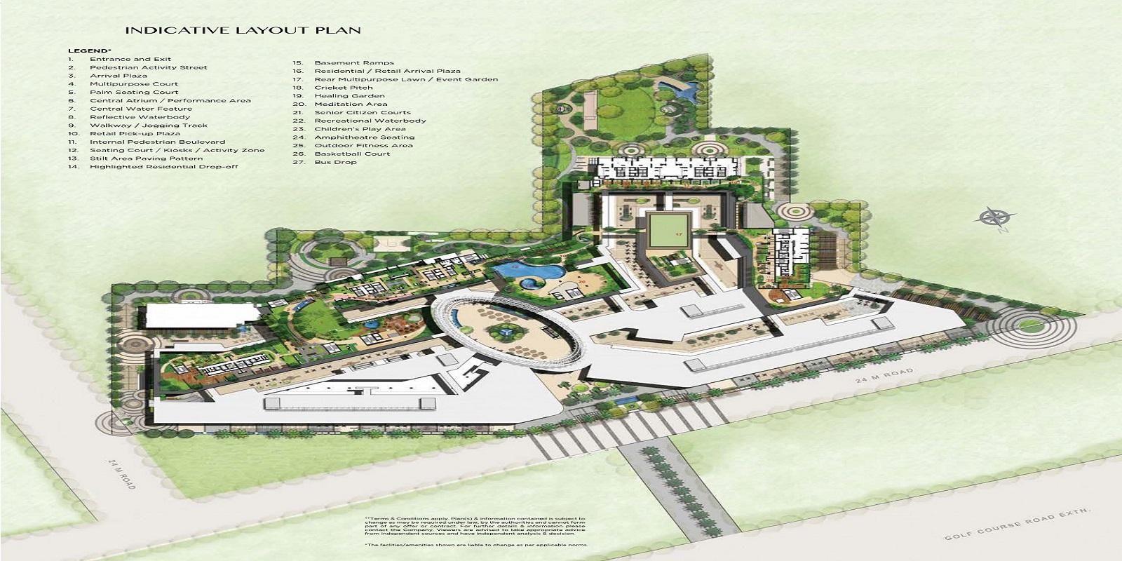 m3m 65 avenue master plan image6