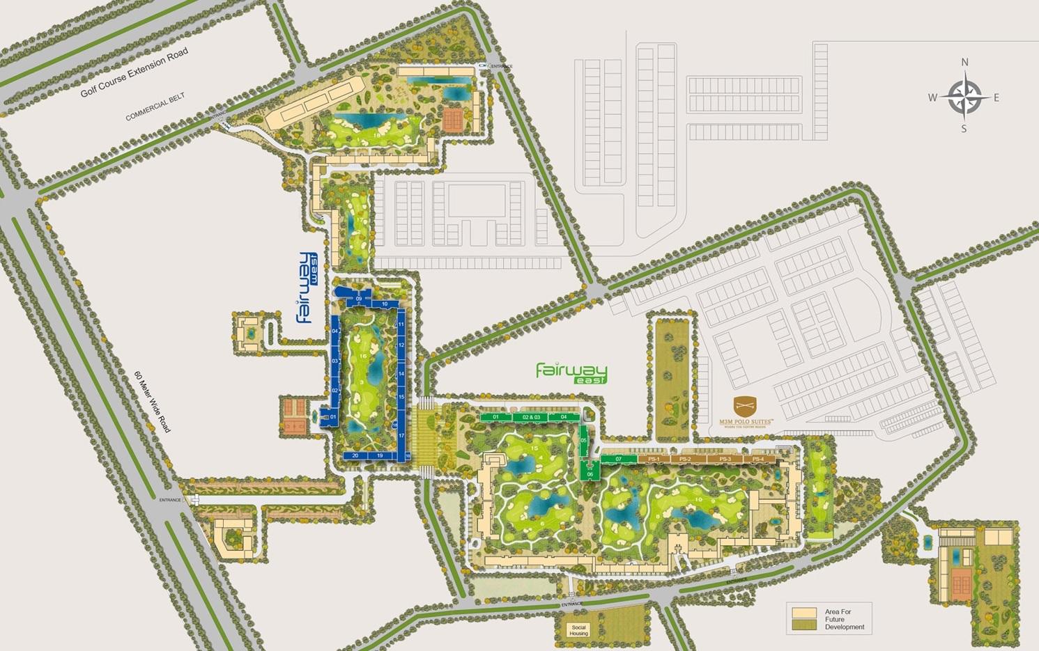m3m golf estate fairway east master plan image6