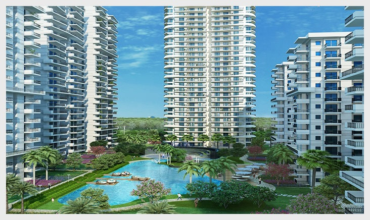 m3m marina project tower view4