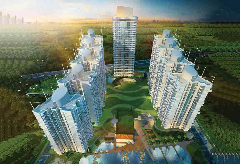 m3m marina project tower view6