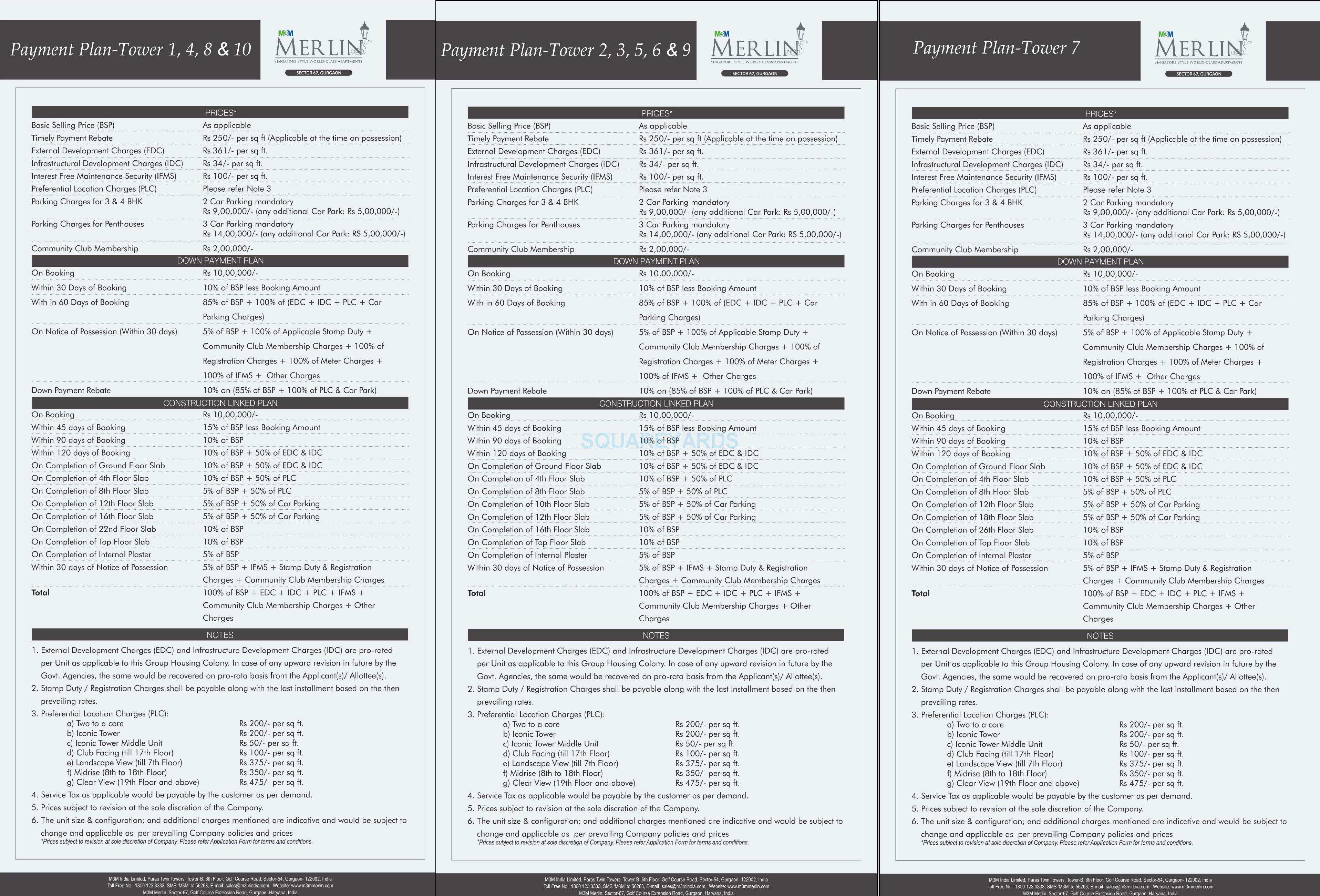 m3m merlin payment plan image1