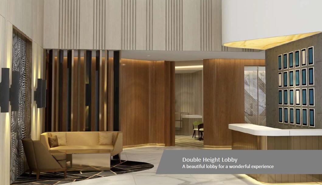 m3m natura lift lobby image1
