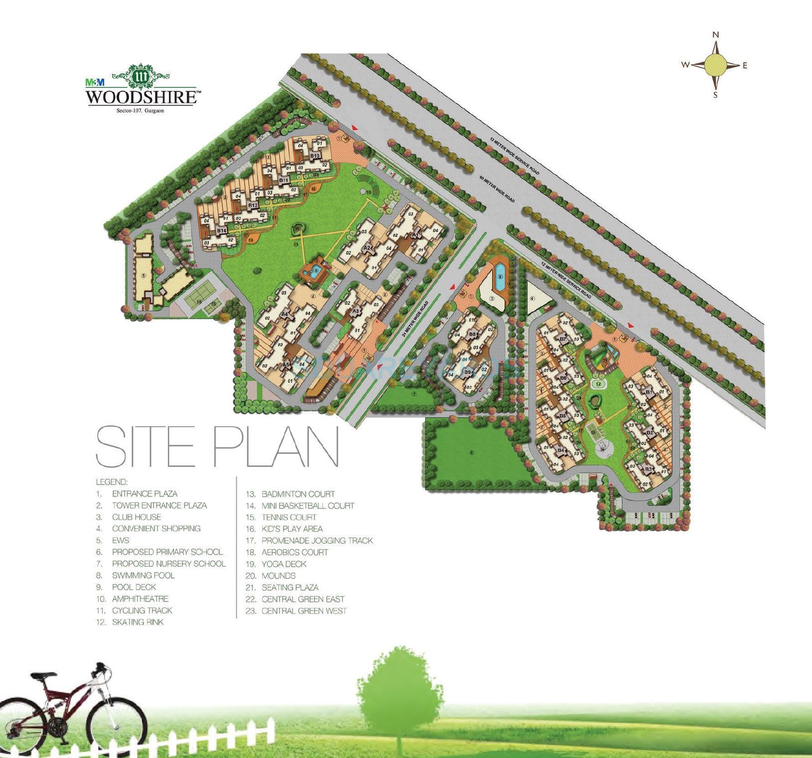 m3m woodshire master plan image1