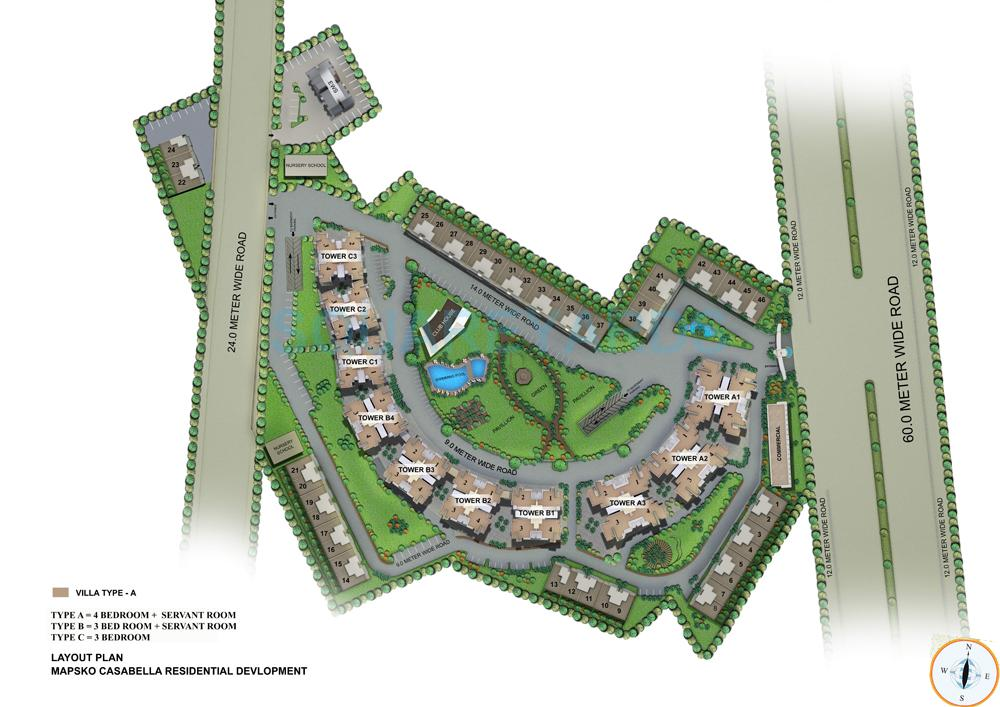 mapsko casa bella apartments master plan image1