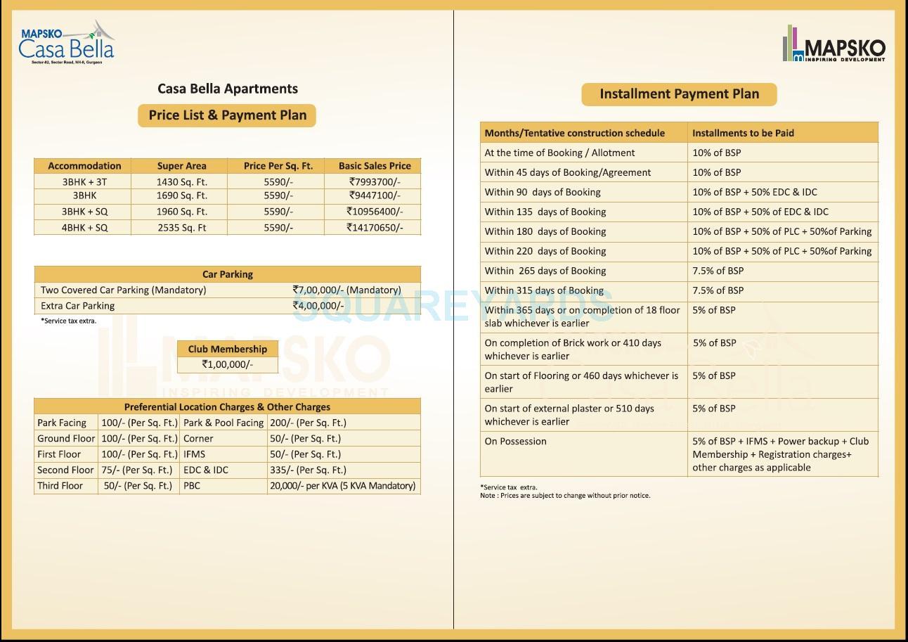 mapsko casa bella apartments payment plan image1