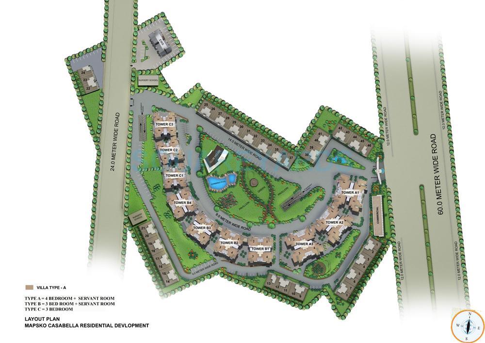 mapsko casa bella villas master plan image1
