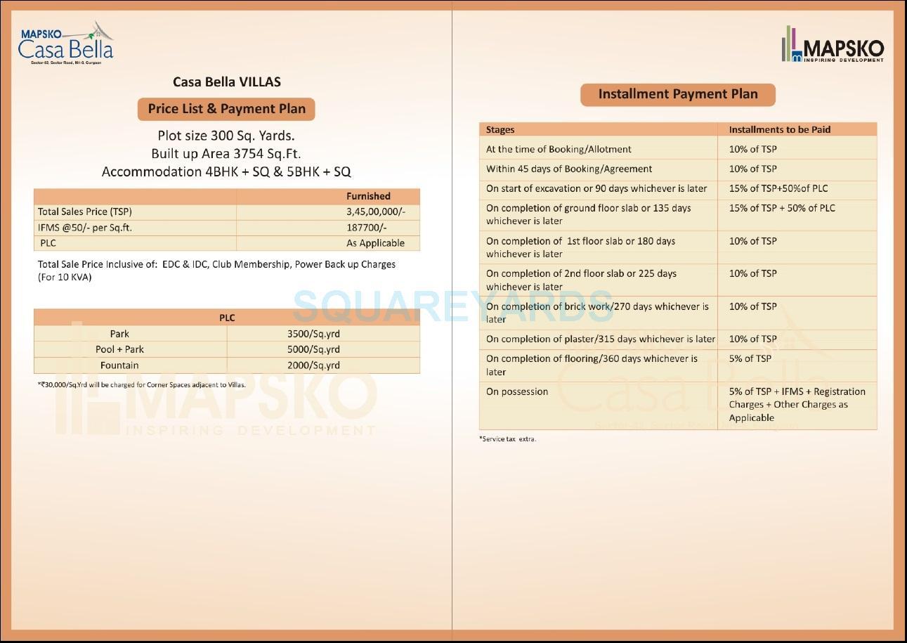 mapsko casa bella villas payment plan image1