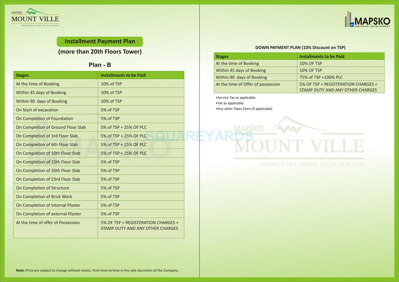 mapsko mount ville payment plan image2