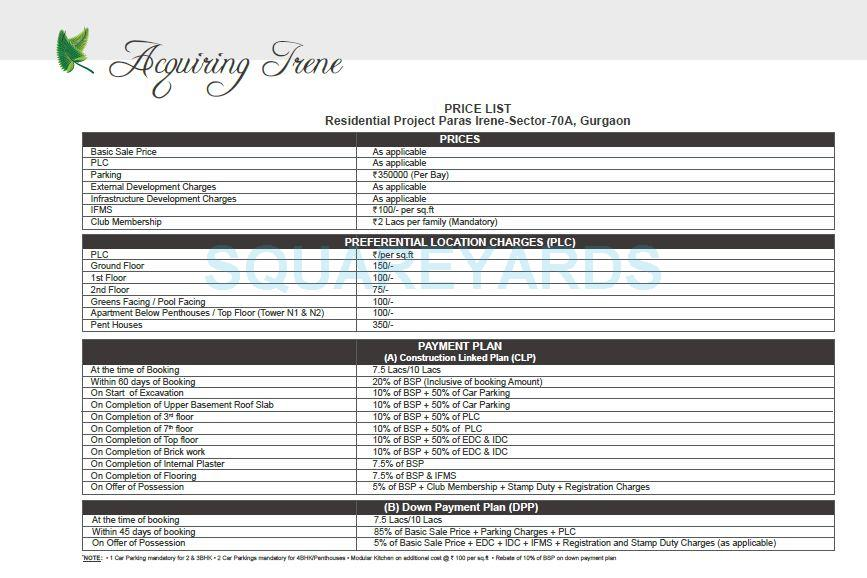 paras irene payment plan image1