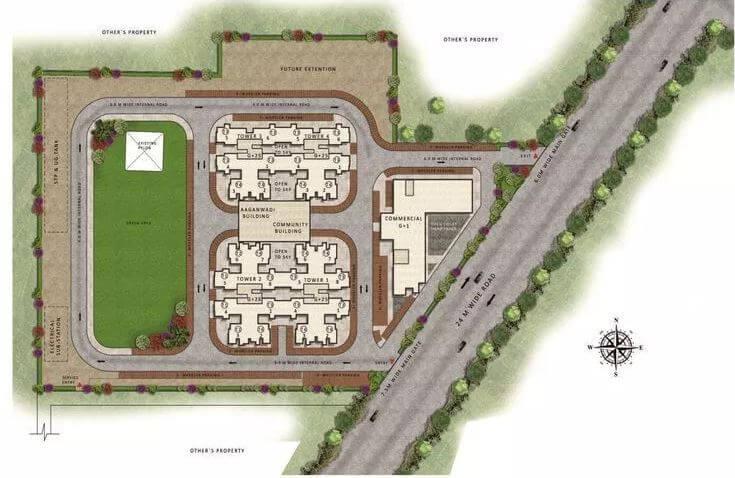 pareena om apartments master plan image1