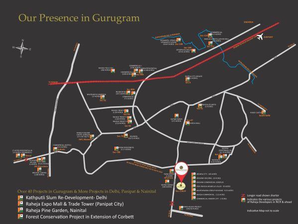 raheja aranya project location image1