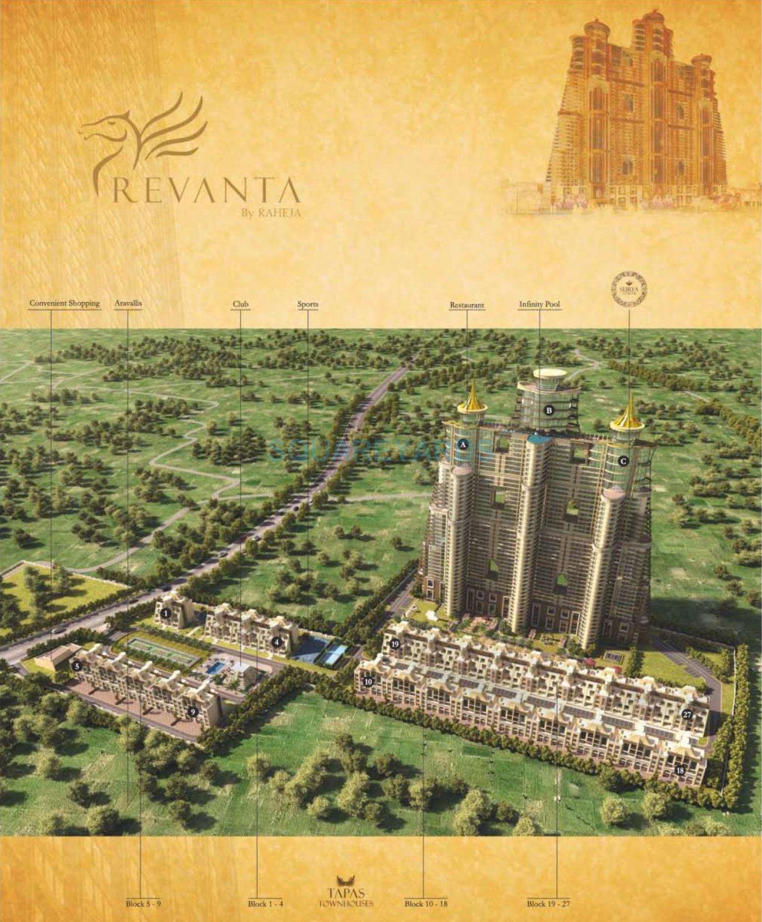 raheja revanta tapas townhouse master plan image1