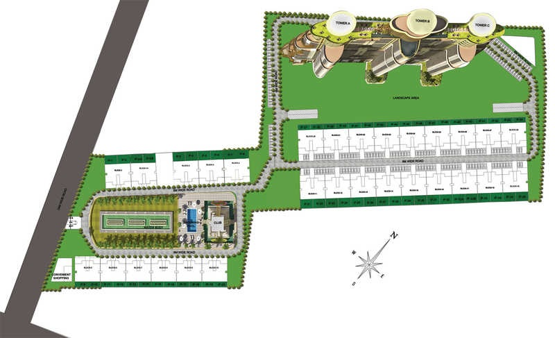 raheja revanta tapas townhouse master plan image12
