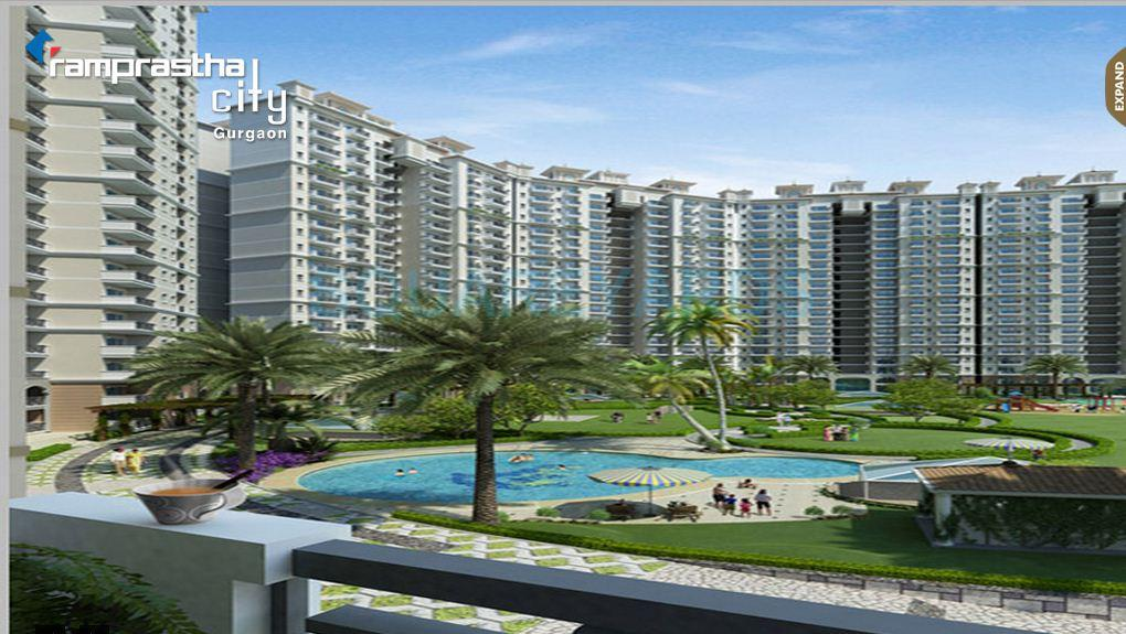 ramprastha city skyz tower view1