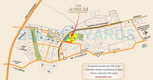ramprastha city the atrium location image1
