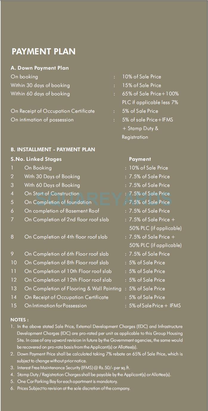 ramprastha the view payment plan image1