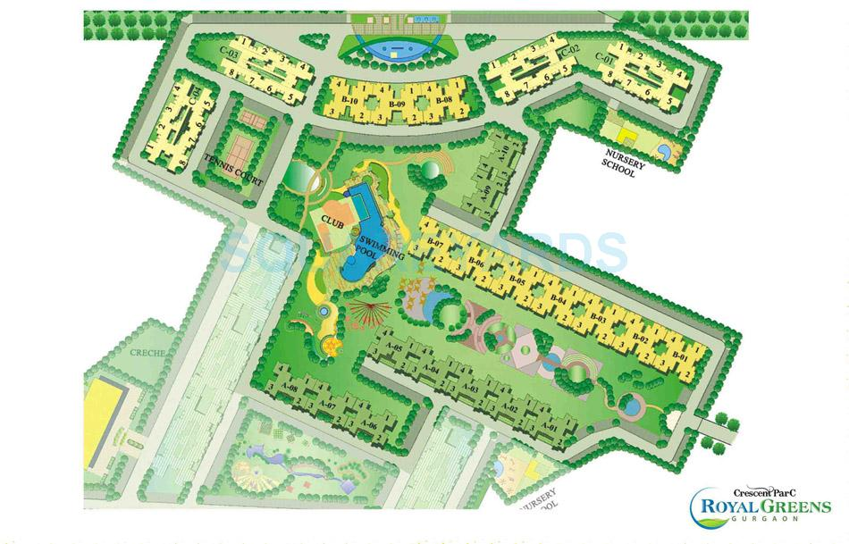 sare crescent parc royal greens phase i master plan image1