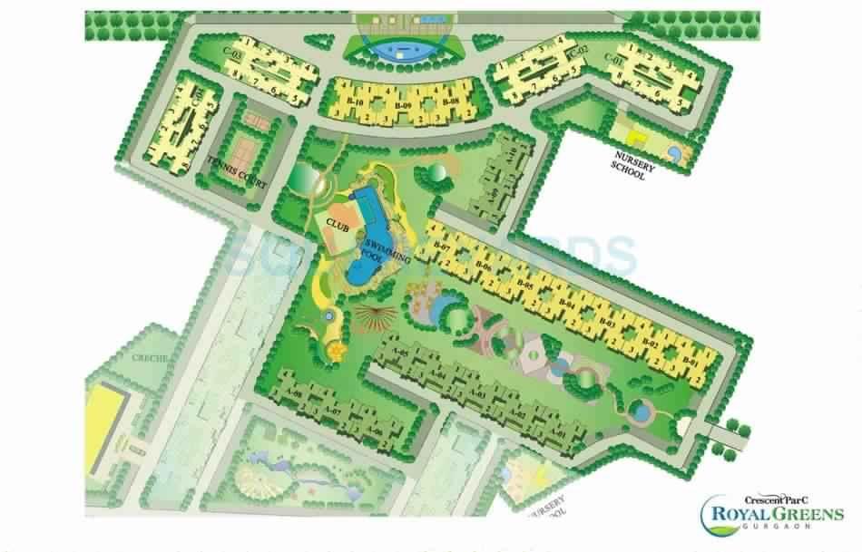 sare crescent parc royal greens phase i master plan image5