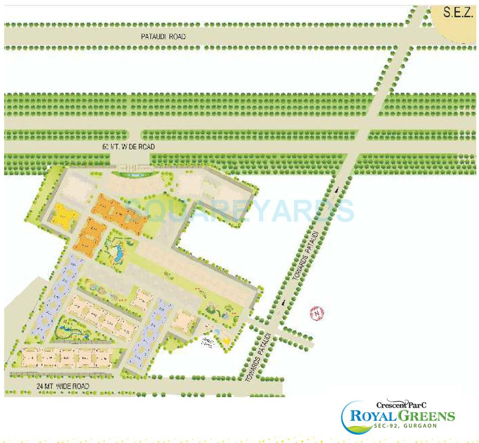 sare crescent parc royal greens phase ii master plan image1