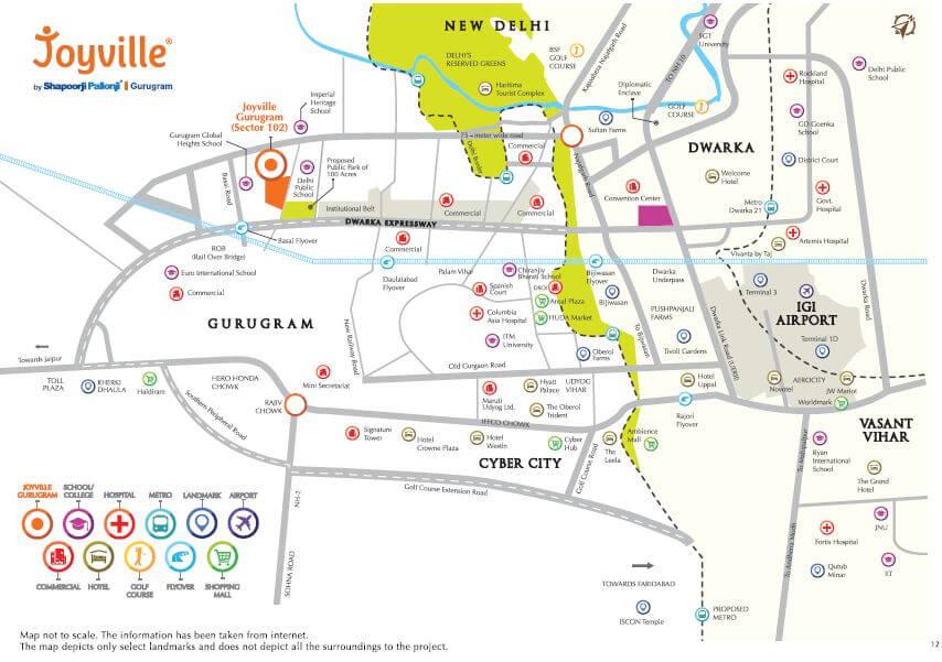 shapoorji pallonji joyville phase 2 location image1