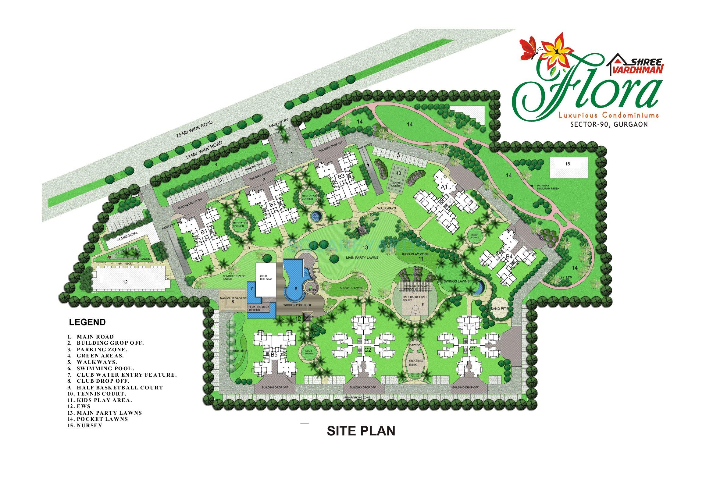 shree vardhman flora master plan image1