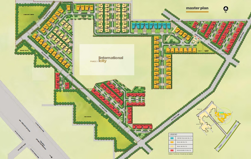 sobha international city phase 1 master plan image8