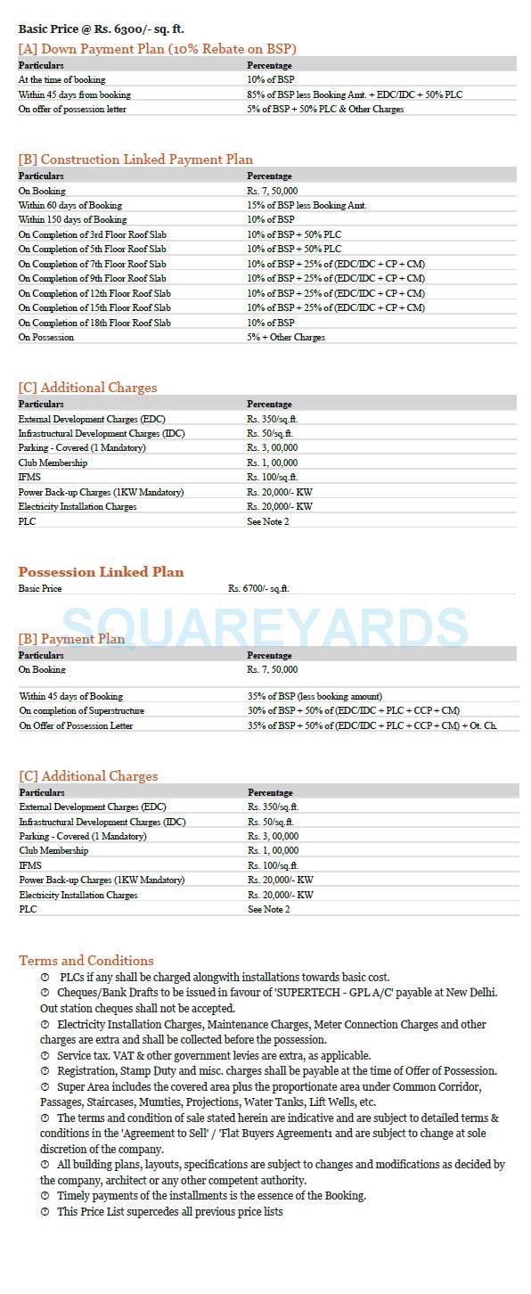 supertech araville payment plan image1