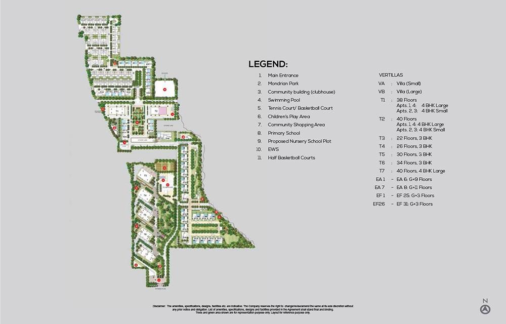 tata primanti villas master plan image2
