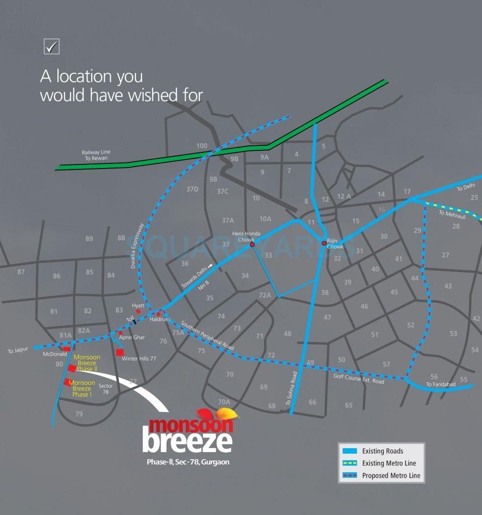 umang monsoon breeze phase ii location image1