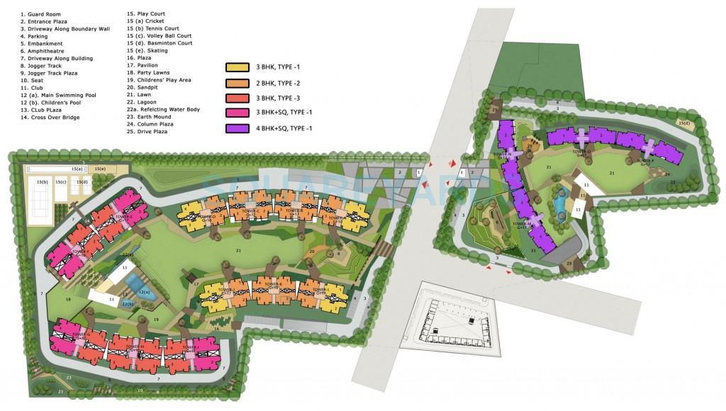 umang winter hills master plan image1