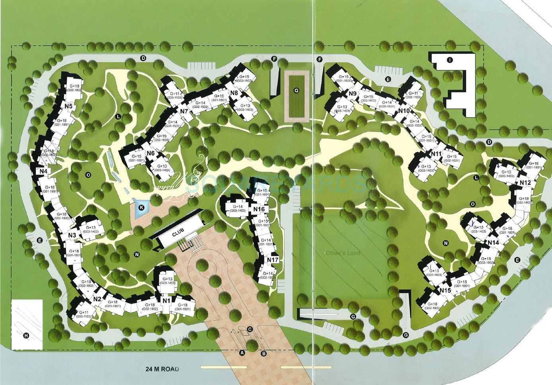 unitech close north master plan image2