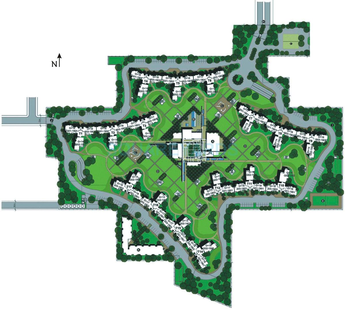 unitech fresco master plan image1