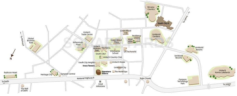 unitech ivory towers location image1