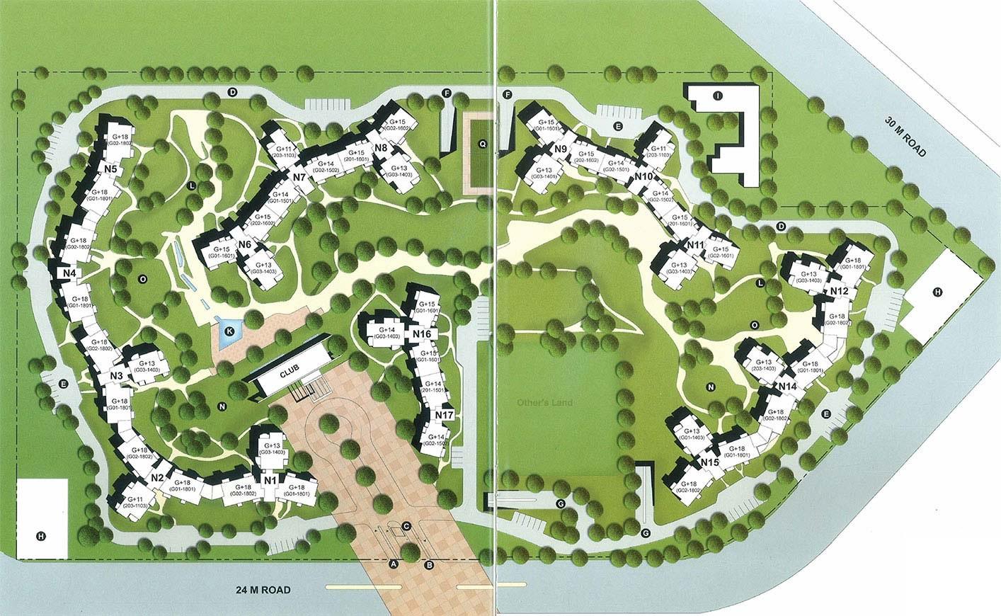 unitech the close north master plan image5